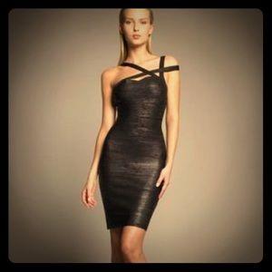 Sale! Herve Leger Metallic Bandage Dress